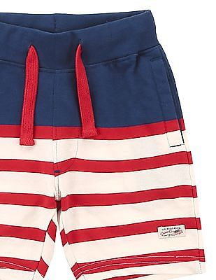 U.S. Polo Assn. Kids Boys Striped Knit Shorts