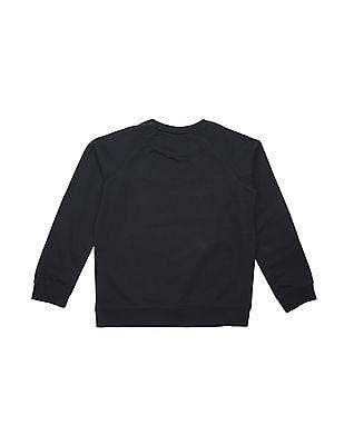 U.S. Polo Assn. Kids Boys Brand Applique Cotton Sweatshirt