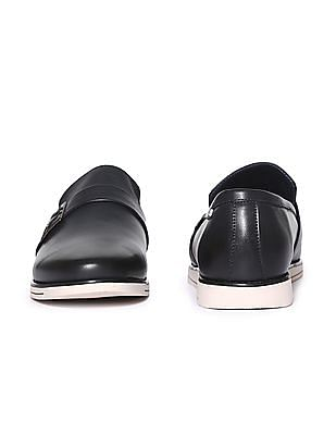 Arrow Contrast Sole Solid Slip On Shoes
