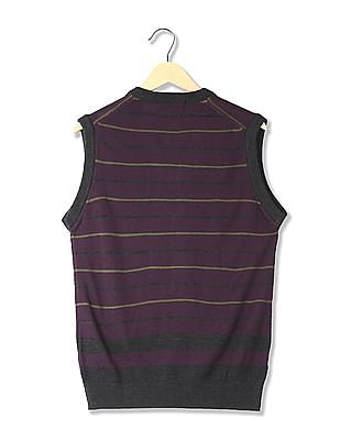 Arrow Sports Regular Fit Striped Sweater