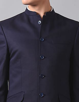 True Blue Single Breasted Two Piece Suit