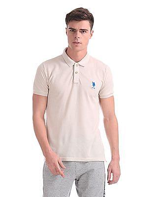 U.S. Polo Assn. Regular Fit Heathered Polo Shirt