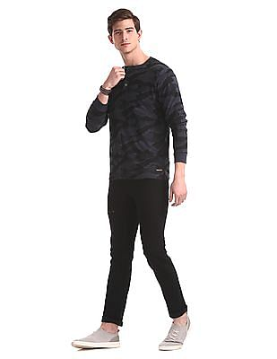 Colt Black Skinny Fit Rinsed Jeans