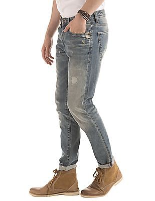 Ed Hardy Slim Straight Fit Stone Wash Jeans
