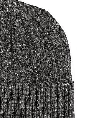 Unlimited Grey Cable Knit Beanie