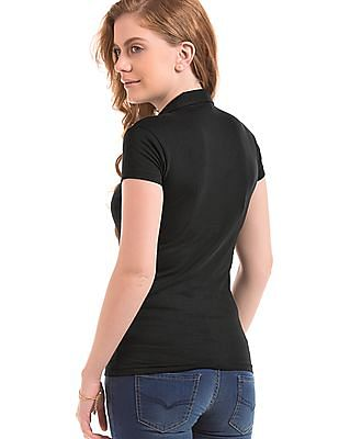 SUGR Notched Collar Cotton Polo Shirt