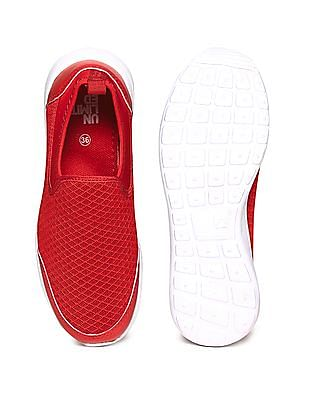 Unlimited Boys Mesh Panel Slip On Shoes