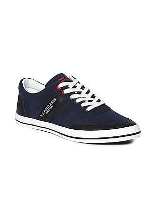U.S. Polo Assn. Blue Round Toe Panelled Sneakers