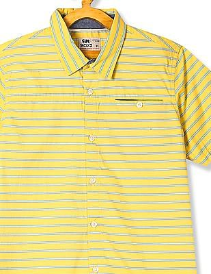 FM Boys Boys Striped Short Sleeve Shirt