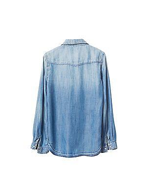 GAP Girls 1969 Western Denim Shirt