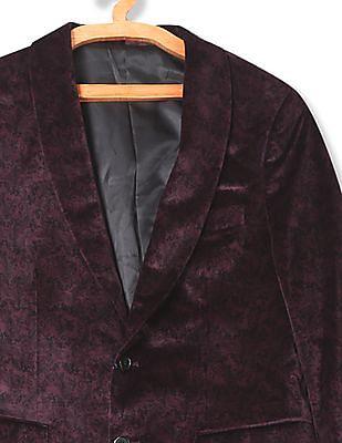 Arrow Body Tailored Regular Fit Velveteen Blazer