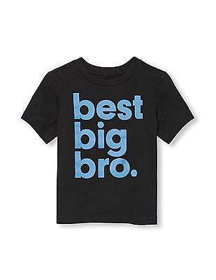 The Children's Place Toddler Boy Short Sleeve 'Best Big Bro' Graphic Tee