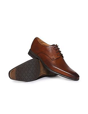 Arrow Pointed Toe Solid Derby Shoes