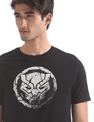 Colt Black Crew Neck Black Panther Graphic T-Shirt