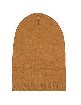 Aeropostale Ribbed Knit Roll Up Beanie
