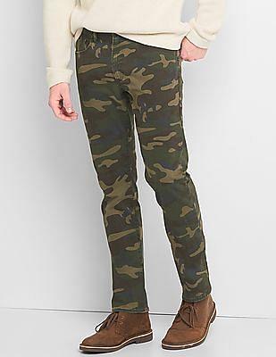GAP Camo 5-Pocket Slim Fit Pants With Gapflex