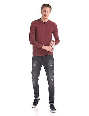 Cherokee Long Sleeve Henley T-Shirt