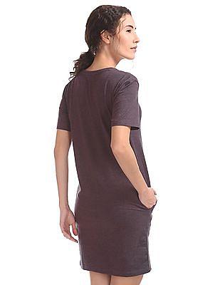 Aeropostale Solid T-Shirt Dress