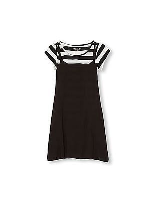 The Children's Place Girls Short Sleeve Striped Top And Dress 2-Piece Set