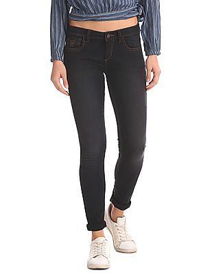 Flying Machine Women Super Skinny Fit Rinsed Jeans