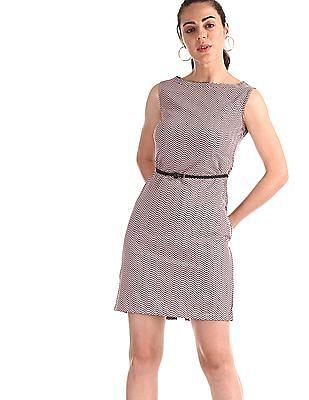 Elle Studio Pink Geometric Print Shift Dress