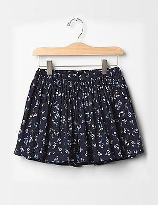 GAP Girls Floral circle skirt