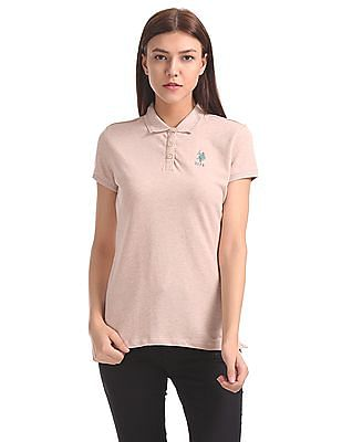 U.S. Polo Assn. Women Regular Fit Solid Polo Shirt