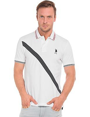 U.S. Polo Assn. Slim Fit Cut And Sew Panel Polo Shirt