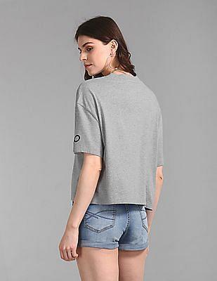 GAP Women Grey Boxy Logo T-Shirt