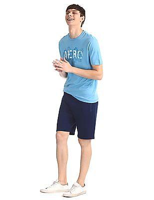 Aeropostale Blue Crew Neck Brand Print T-Shirt