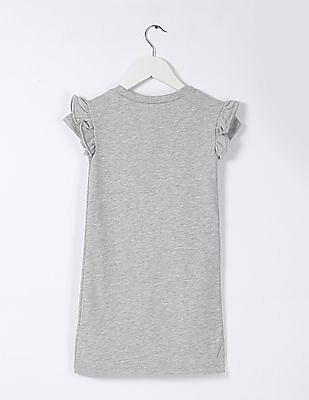 GAP Baby Grey Heathered T-Shirt Dress