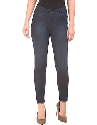 Flying Machine Women High Rise dark Wash jeans
