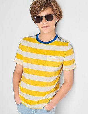 GAP Boys Stripe Pocket Slub Tee