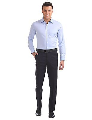 Arrow Regular Fit Solid Trousers