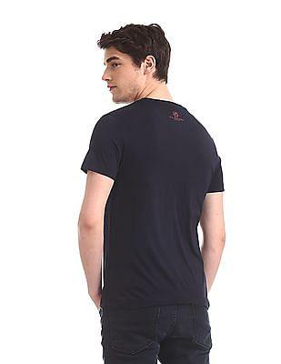 U.S. Polo Assn. Denim Co. Blue Crew Neck Printed T-Shirt