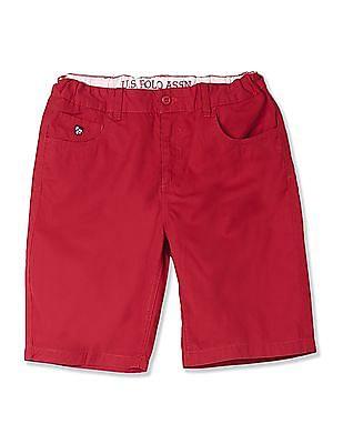 U.S. Polo Assn. Kids Boys Solid Twill Shorts