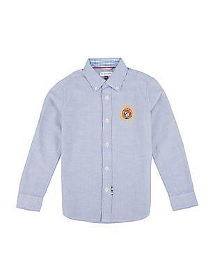 U.S. Polo Assn. Kids Boys Solid Regular Fit Shirt