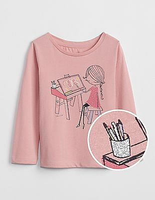 GAP Baby Sparkle Graphic Long Sleeve T-Shirt