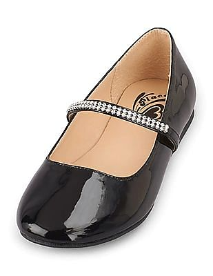 The Children's Place Girls Studded Mary Janes