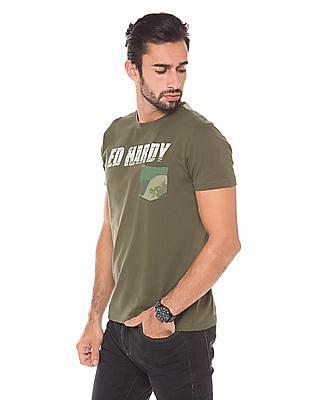 Ed Hardy Regular Fit Crew Neck T-Shirt