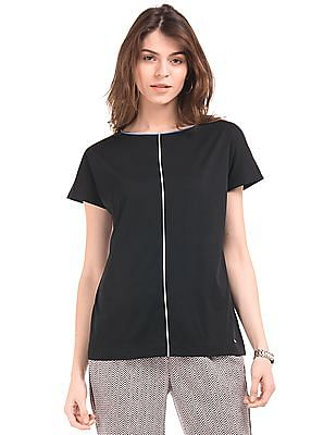 Nautica Contrast Trim Knitted Top