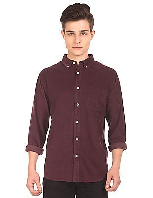 Aeropostale Button Down Corduroy Shirt
