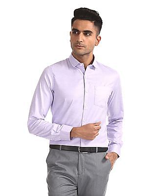 Excalibur Semi Cutaway Collar Patterned Shirt - Pack Of 2