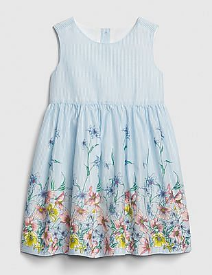 f8bc1fe053a5 Buy Baby Baby Floral Stripe Fit And Flare Dress online at NNNOW.com