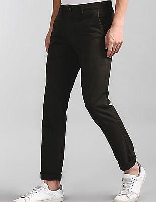 GAP Green Vintage Wash Khakis In Slim Fit With GapFlex