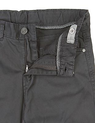 Cherokee Boys Solid Cotton Trousers