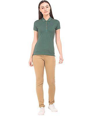 U.S. Polo Assn. Women Flat Front Skinny Trousers