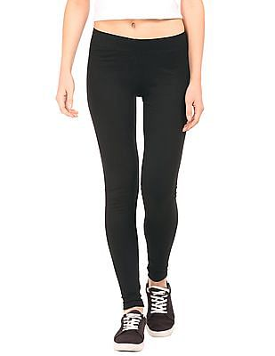 Aeropostale Solid Skinny Fit Leggings