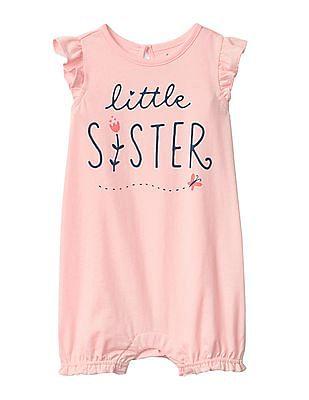 GAP Baby Little Sister Flutter Shorty One-Piece