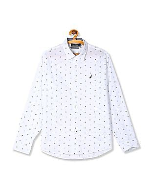Nautica Long Sleeve Casual Nautical Prints Mini Critter Shirt